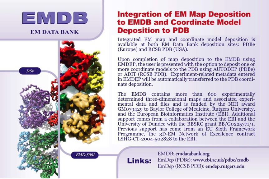 EMDB map + model deposition postcard